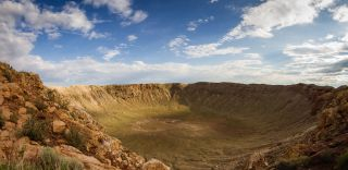 meteorite impact crater, glass beads