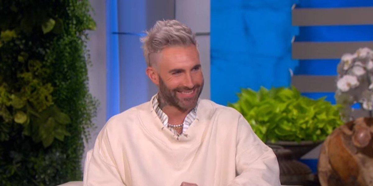 Adam Levine being interviewed on The Ellen DeGeneres Show
