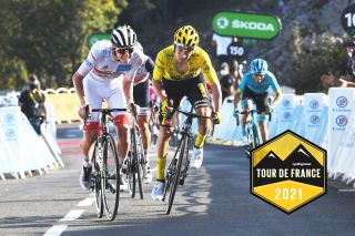 GRAND COLOMBIER, FRANCE - SEPTEMBER 13: Primoz Roglic of Slovenia and Team Jumbo - Visma Yellow Leader Jersey / Tadej Pogacar of Slovenia and UAE Team Emirates White Best Young Rider Jersey / Miguel Angel Lopez Moreno of Colombia and Astana Pro Team / Grand Colombier (1501m)/ during the 107th Tour de France 2020, Stage 15 a 174,5km stage from Lyon to Grand Colombier 1501m / #TDF2020 / @LeTour / on September 13, 2020 in Grand Colombier, France. (Photo by Tim de Waele/Getty Images)