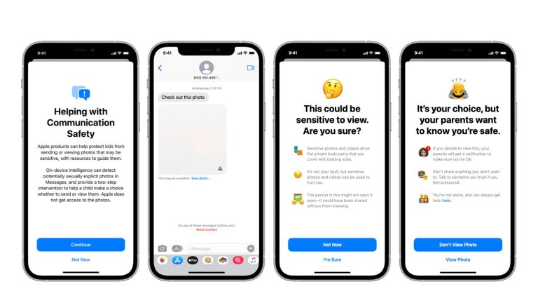 Apple messages image block