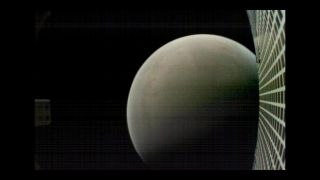 A photograph of Mars taken by MarCO-B after its closest approach to the Red Planet on Nov. 26, 2018.