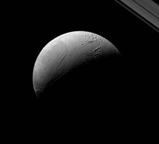 Saturn Moon Enceladus, by Cassini