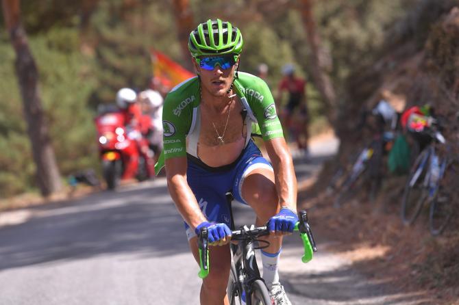 Matteo Trentin on a hot day at the Vuelta a España