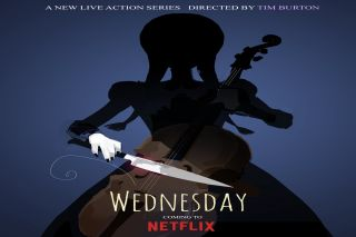 Wednesday poster from Netflix.