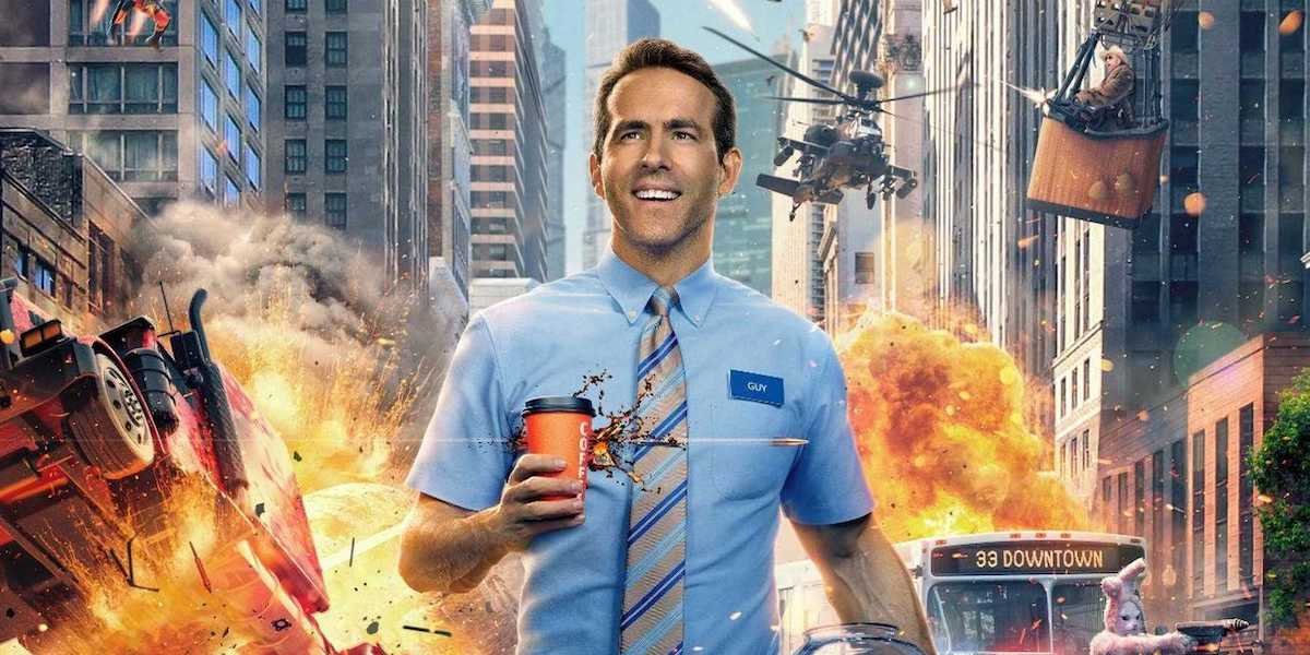 Ryan Reynolds as Guy in a promotional image for 'Free Guy'