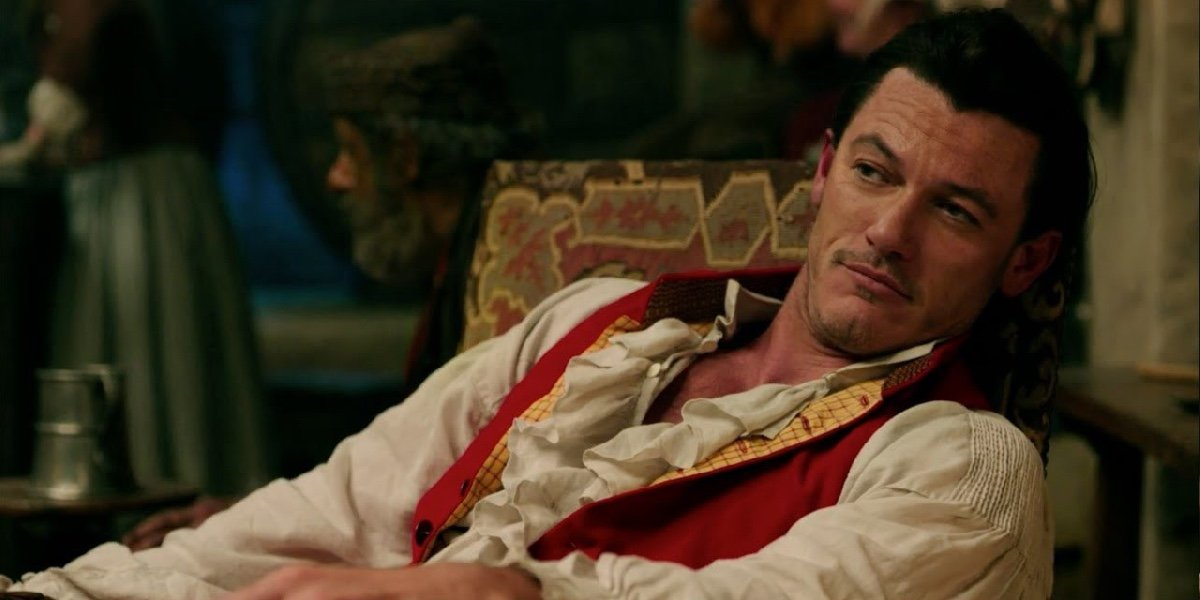 Luke Evans as Gaston in Beauty and the Beast.