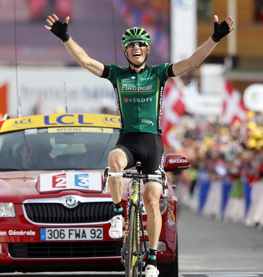 Pierre Rolland wins, Tour de France 2011, stage 19