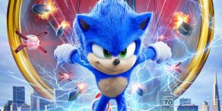 Sonic the Hedgehog running from Robotnik's drones