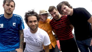 A photograph of Motion City Soundtrack in 2005
