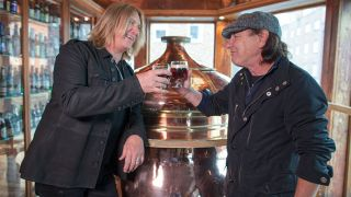Joe Elliott with Brian Johnson