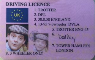What a Plonker! Driver stopped by police has fake Del Boy driving licence