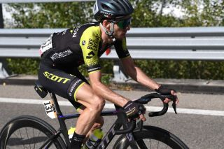 Simon Yates (Mitchelton-Scott) at the 2020 Giro d'Italia, before he was forced to quit the race after testing positive for the coronavirus