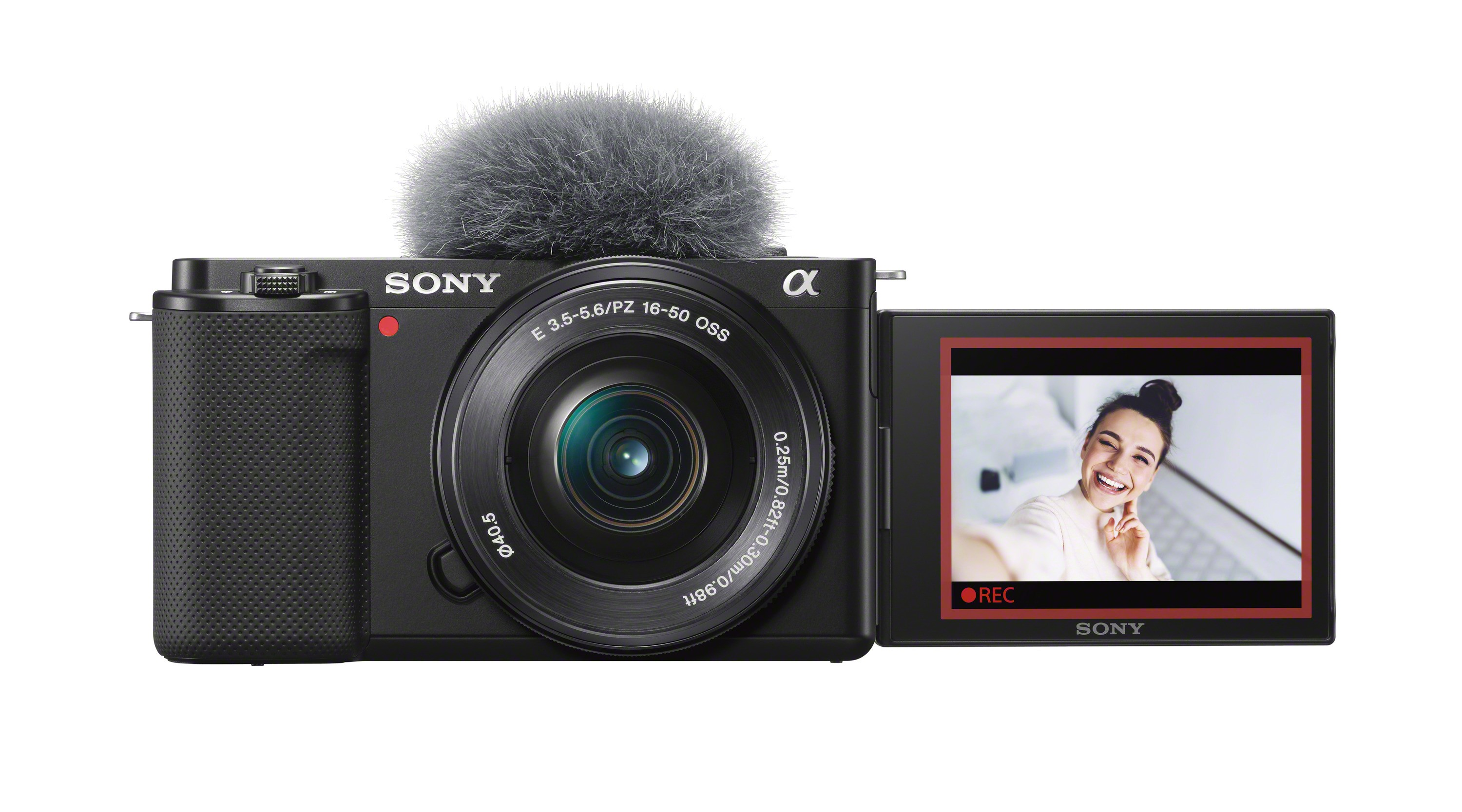 Sony Alpha ZV-E10 is a mirrorless camera with an interchangeable lens