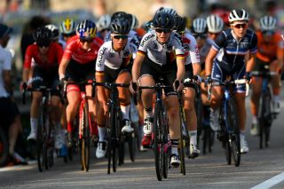 Under-23 women racing at the European Championships 2021