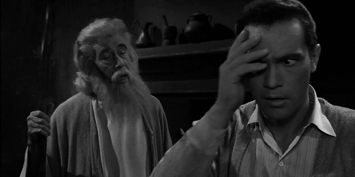 John Carradine in the back with the beard, H.M. Wynant in the front