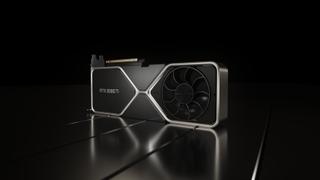 Nvidia GeForce RTX 3080 Ti render on black background