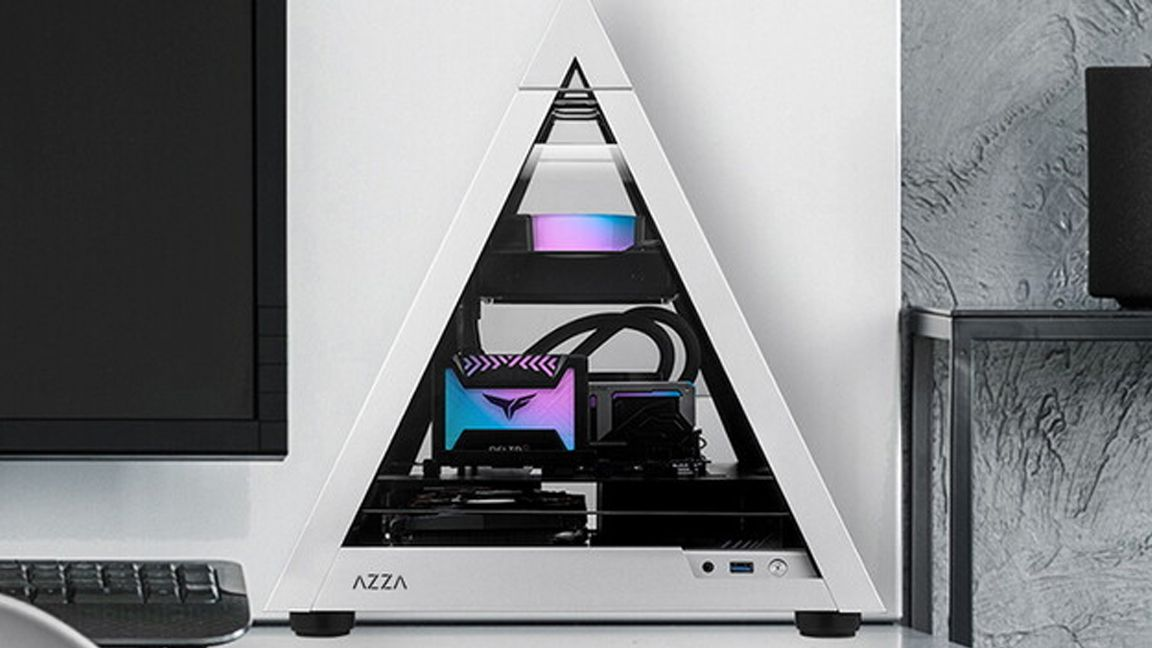 Azza's Tiny New Pyramid 806 Case Supports Mini-ITX Motherboards