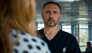 Alex Walkinshaw plays Adrian Fletcher in Holby City