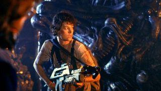 Sigourney Weaver as Ellen Ripley in 1986's Aliens