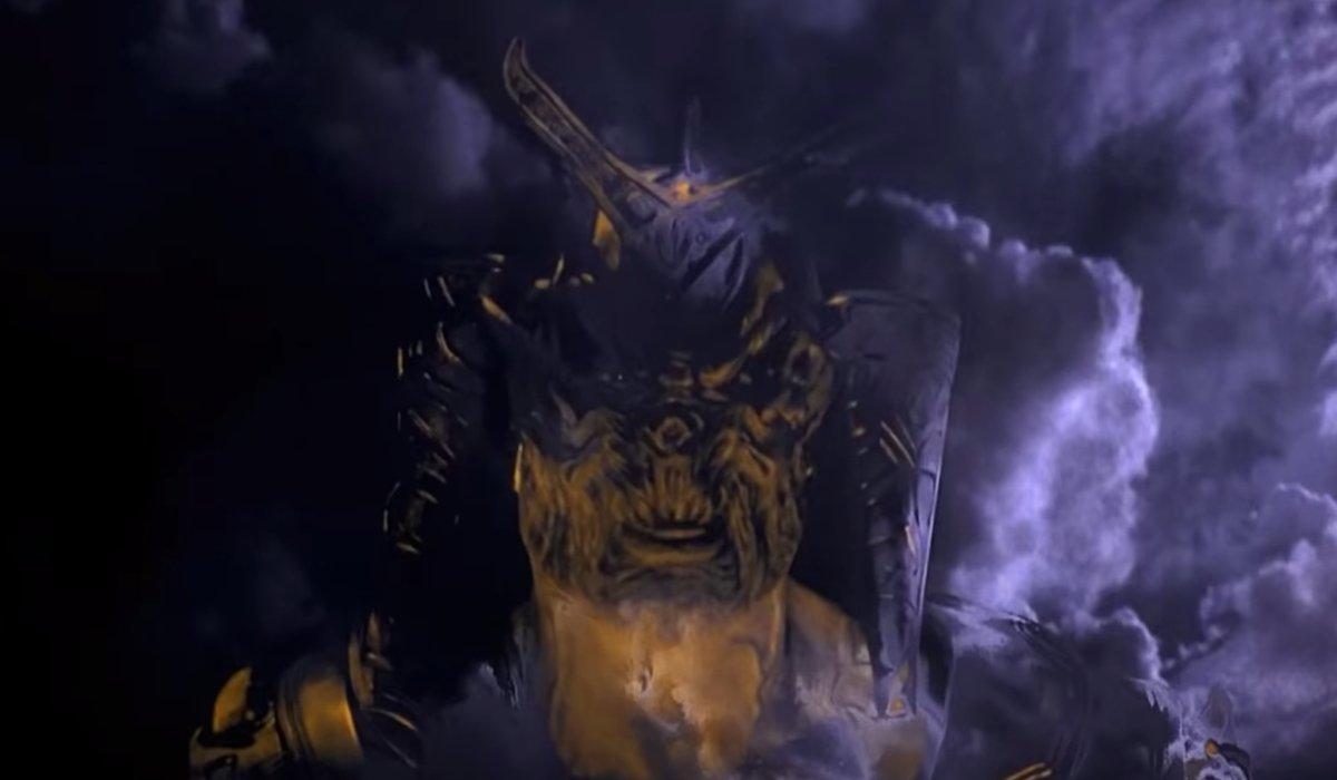 Mortal Kombat (1995) The Emperor appears in the sky