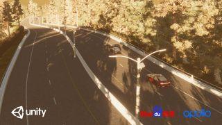Baidu: Unity car simulations