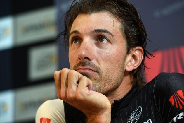 Fabian Cancellara poses before the 2014 Tour de France