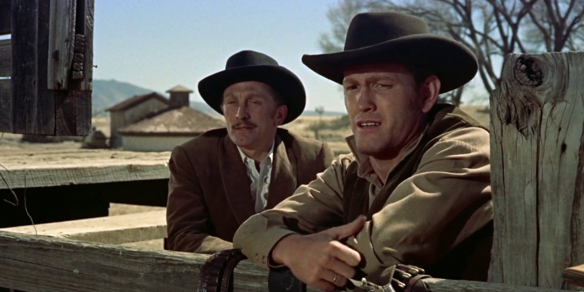 Kirk Douglas and Burt Lancaster in Gunfight at the O.K. Corral