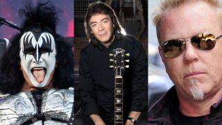 Gene Simmons, Steve Hackett, James Hetfield