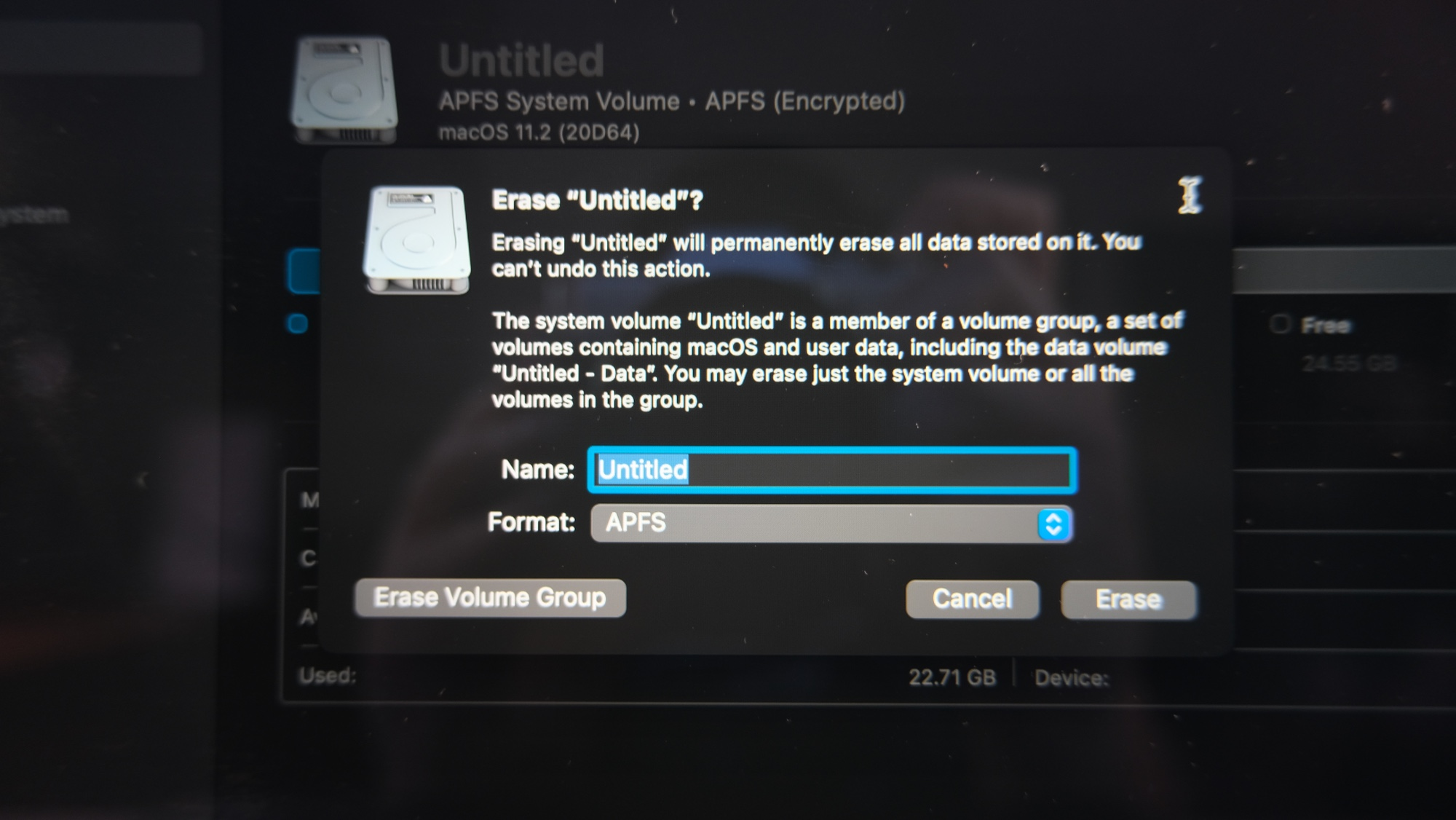 how to reset a macbook pro - erase disk