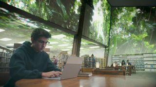Boy using Google Pixelbook
