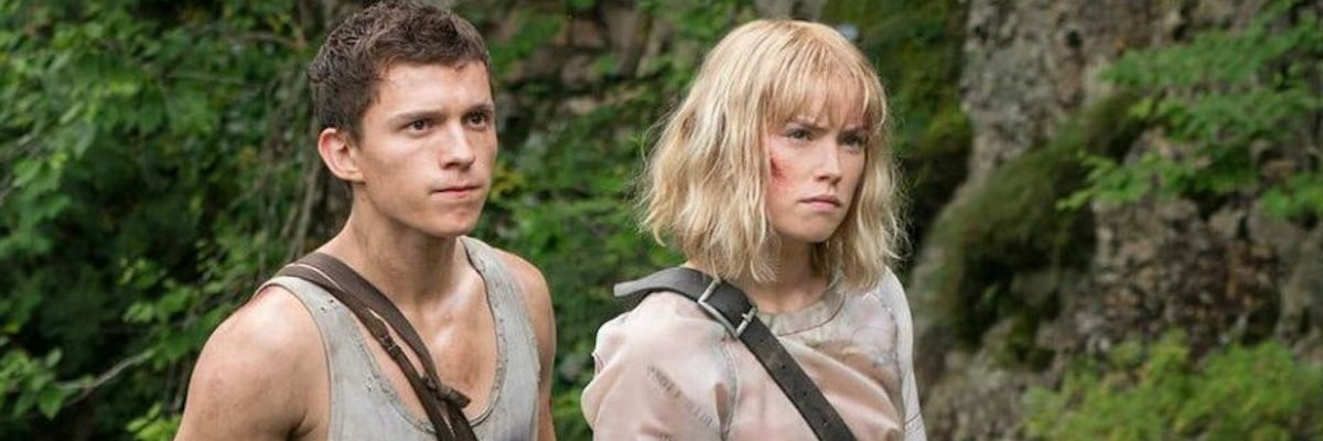 Tom Holland and Daisy Ridley in Chaos Walking