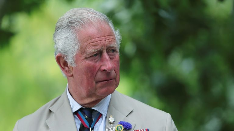 Prince Charles, Prince of Wales attends the VJ Day National Remembrance event, held at the National Memorial Arboretum in Staffordshire