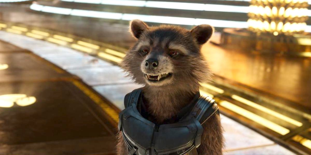 Rocket the Raccoon in Guardians of the Galaxy Vol 2