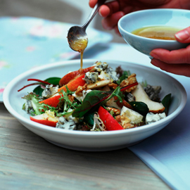 Pear, walnut and Gorgonzola salad-salad recipes-woman and home