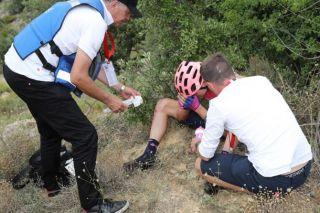 Tejay van Garderen crashes hard