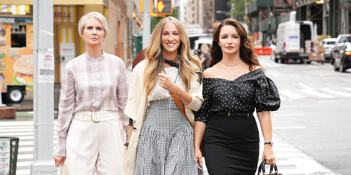 sex and the city and just like that revival miranda carrie charlotte