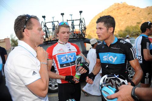 Dejongh, Vigano and Boasson Hagen, Tour of Oman 2010, stage four