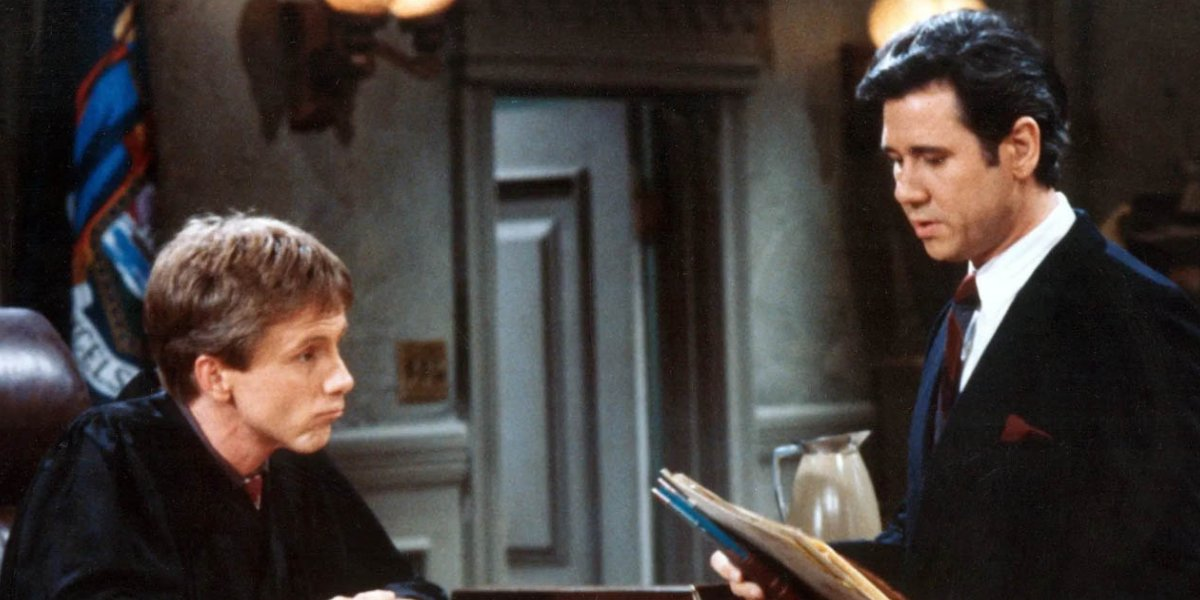 Harry Anderson and John Larroquette on Night Court