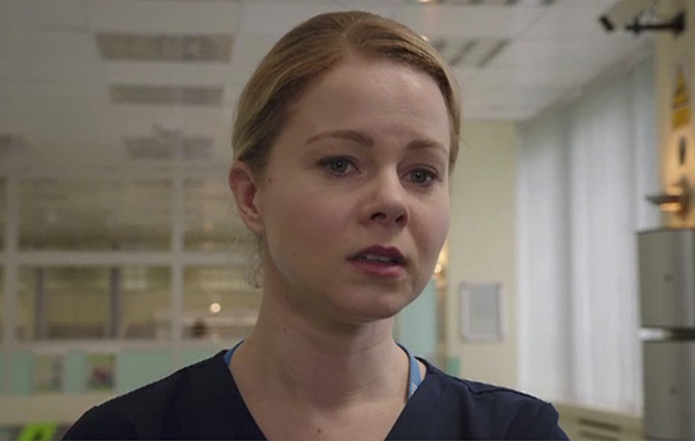 Amy Lennox plays Chloe Godard in Holby City