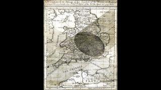 В 1705 году Галлей опубликовал прогноз солнечного затмения, которое будет видно на большей части Англии 3 мая того же года, основываясь на теории всемирного тяготения, разработанной его другом сэром Исааком Ньютоном.