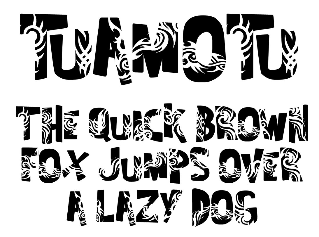 Tattoo fonts: Tuamotu