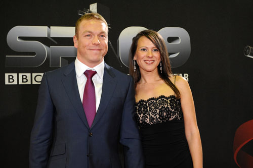 Sir Chris Hoy and Sarra Kemp, BBC Sports Personality of the Year awards 2009