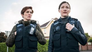 Vicky McClure and Kelly Macdonald in Line of Duty.