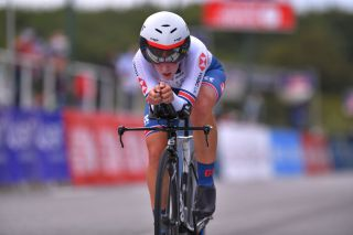Hayley Simmonds – pictured on her way to 16th place for Great Britain at the 2020 UEC Road European Championships – is a big-name signing to CAMS-Tifosi for 2021