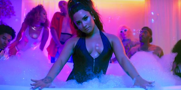 Demi Lovato Sorry Not Sorry music video bubble bath