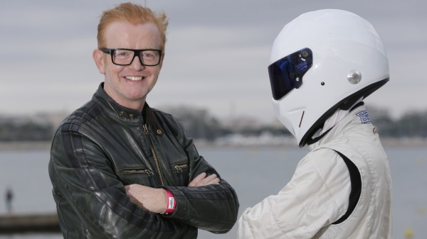 Top Gear host Chris Evans with The Stig