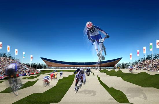 London 2012 Olympic Games BMX track, artist's impression