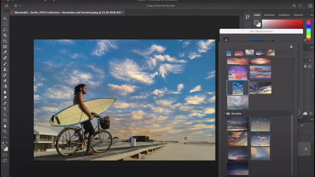 Photoshop teases AI feature that gives your photos an entirely new sky