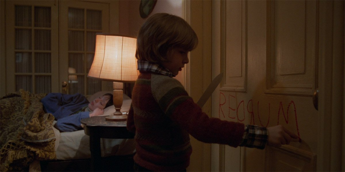 Danny Torrance writes REDRUM in The Shining