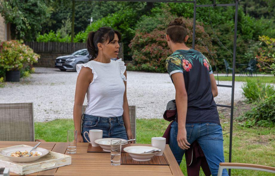 Priya is dumbfounded by Jacob's behaviour in Emmerdale